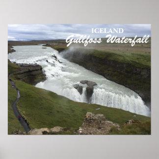Poster da cachoeira de Gullfoss