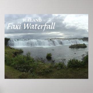 Poster da cachoeira de Islândia