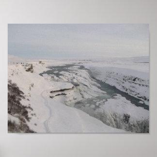 Poster da cachoeira do Gullfoss de Islândia (na