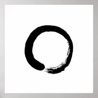 Poster da caligrafia do círculo do zen de Ensō