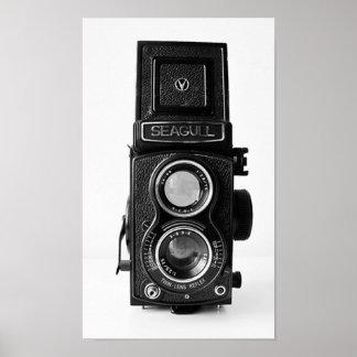 Poster da câmera do vintage