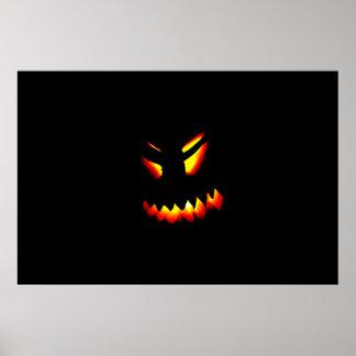 Poster da cara da Jack-O-Lanterna do Dia das