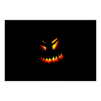 Poster da cara da Jack-O-Lanterna do Dia das Pôster