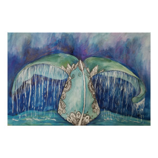 poster da cauda da baleia