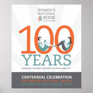 poster da celebração centenária de 20x24 WNBA