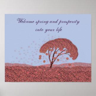 Poster da celebração do primavera. Poster do roxo
