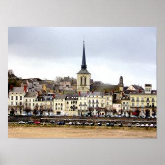 Poster da cena do banco de rio de Saumur