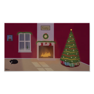 """Poster da cena do Natal (12,8"""" x 7,2"""")"""