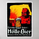 Poster da cerveja de 1905 alemães