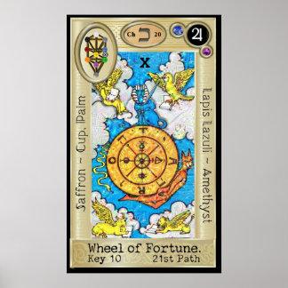 Poster ~ da chave 10 de Ifdawn Deepdream Tarot a roda