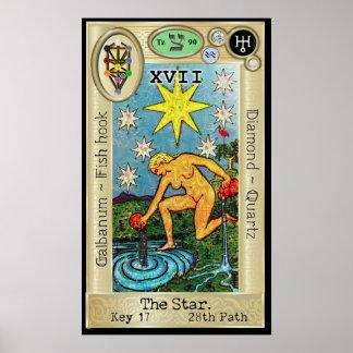 Pôster ~ da chave 17 de Ifdawn Deepdream Tarot a estrela