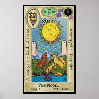 Pôster ~ da chave 18 de Ifdawn Deepdream Tarot a lua