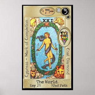 Poster ~ da chave 21 de Ifdawn Deepdream Tarot o mundo