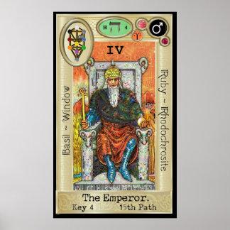 Poster ~ da chave 4 de Ifdawn Deepdream Tarot o imperador