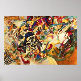 Poster da composição VII de Kandinsky
