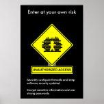 Poster da consciência da segurança do acesso não a