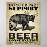 Poster da conservação da cerveja