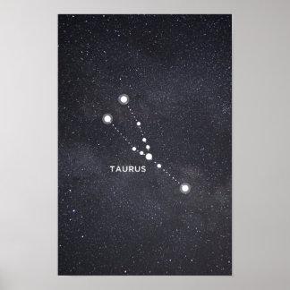 Poster da constelação do zodíaco do Taurus