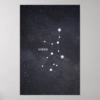 Poster da constelação do zodíaco do Virgo