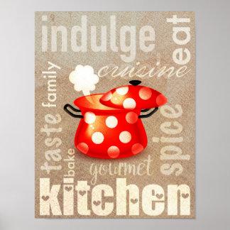Poster da cozinha da arte da palavra do poster |