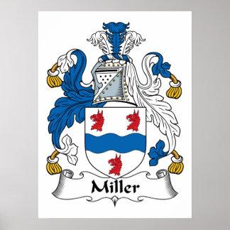 Poster da crista da família de Miller Pôster