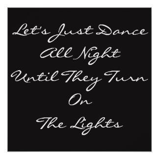 Pôster Da dança poster toda a noite