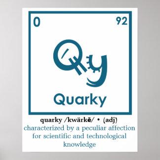 Poster da definição de Quarky