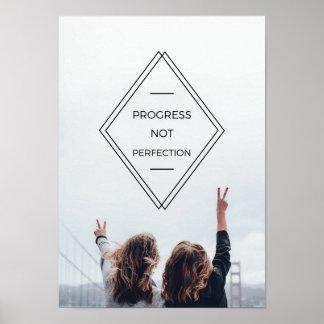 Poster da divisa da perfeição do progresso não