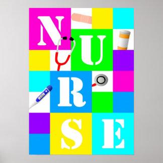 Poster da enfermeira