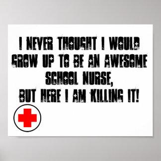 Poster da enfermeira da escola