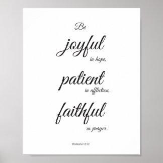 Poster da escritura, poster cristão, 12:12 dos