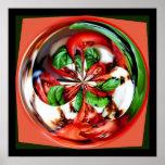 Poster da esfera da salada de Caprese