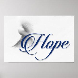 Poster da esperança da pomba
