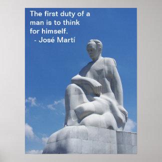 Poster da estátua de José Martí