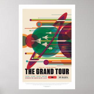Poster da excursão grande de sistema solar
