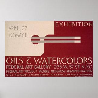 Poster da exposição de arte do vintage pôster
