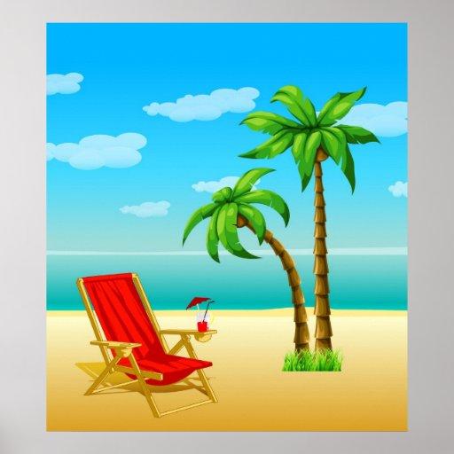 Poster da fantasia do verão
