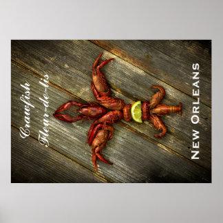Poster da flor de lis dos lagostins