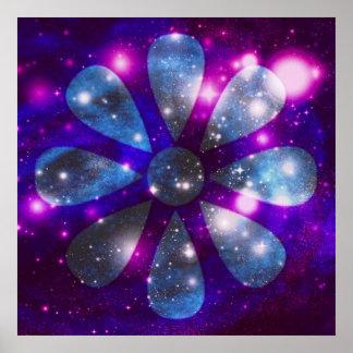 Poster da flor do espaço
