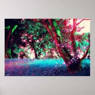 "Poster da floresta - X-Grande (38"" x 25,4"")"