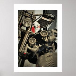 Poster da foto de Yahama Triumph da motocicleta do