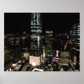 Poster da foto do centro NYC Manhattan da noite de