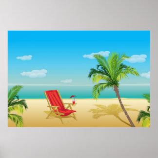 Poster da fuga do paraíso da praia