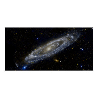 Poster da galáxia do Andromeda
