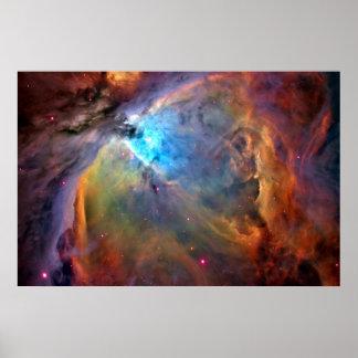 Poster da galáxia do espaço da nebulosa de Orion