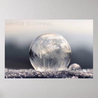 Poster da gota do gelo do inverno