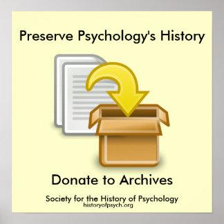 Poster da história da psicologia da conserva