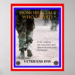 poster da honra do dia de veteranos