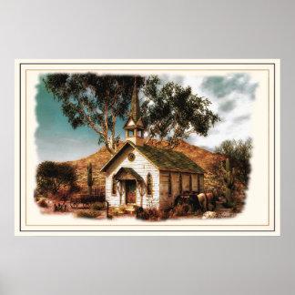 Poster da igreja do vaqueiro