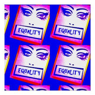Poster da igualdade (direitos iguais) pôster